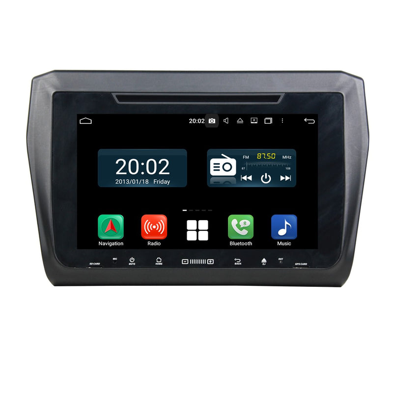 1024x600 Touchscreen Android 10 Autoradio Stereo Headunit for Suzuki Swift 2018 2019 2020. Octa Core 1.5G CPU 32G Flash 4G DDR3 RAM. 2 Din Radio DVD Player GPS Navigation 3G 4G WIFI Bluetooth USB/SD DVD Player DSP Carplay Auto Steering Wheel Control OBDII. Plug and Play Double Din Vehicle Multimedia System Head Unit.