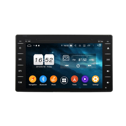 8'' Touchscreen Android 9.0 OS Car Stereo GPS Navigation for Toyota Hilux(2016-2020), Octa Core 1.5G CPU 4G DDR3 RAM 32G Flash, Auto Radio DVD Player Bluetooth 4G WIFI OBDII MirrorLink Headunit - foyotech