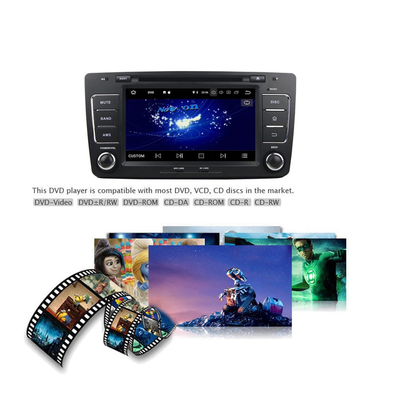 1 Din Touch Screen Android 10 Autoradio Stereo Navigation Headunit for Skoda Octavia 2009 2010 2011 2012 2013. Octa Core 1.5G CPU 32G Flash 4G DDR3 RAM. Auto Radio GPS Navi 3G 4G WIFI Bluetooth USB/SD DSP Carplay Auto Steering Wheel Control OBDII. Plug and Play Single Din Vehicle Multimedia Player System Head Unit.