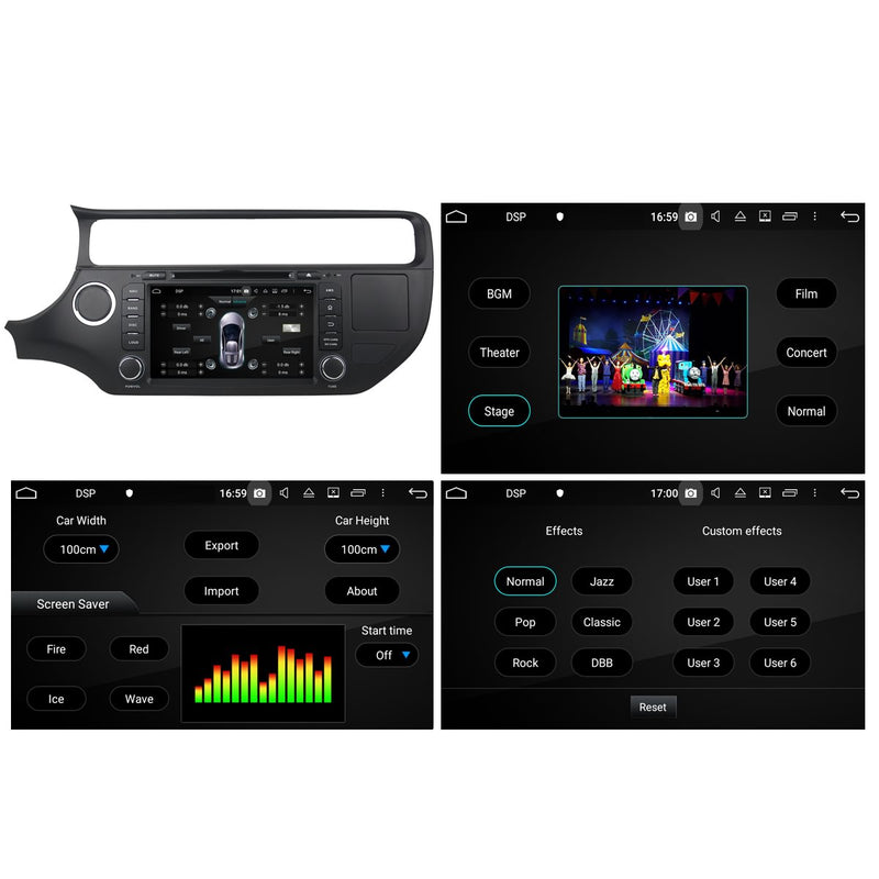 8 inch Touchscreen Android 10 Autoradio Stereo Headunit for Kia K3/Rio 2015 2016 2017 2018 2019 2020. Octa Core 1.5G CPU 32G Flash 3G 4G DDR3 RAM. 2 Din Auto Radio DVD GPS Navigation 3G 4G WIFI Bluetooth USB/SD DSP Carplay Auto Steering Wheel Control OBDII. Plug and Play Double Din Vehicle Multimedia Player System Head Unit.