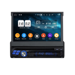 7 inch Android 9.0 OS 1 Din Universal Car GPS Navigation, Octa Core 1.5G CPU 4G DDR3 RAM 32G Flash, Auto Radio Stereo Bluetooth 4G WIFI OBD2 MirrorLink - foyotech