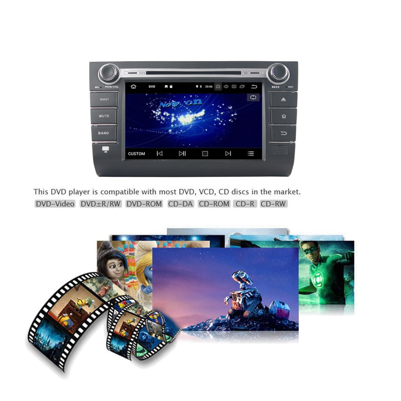 1024x600 Touchscreen Android 10 Autoradio Stereo for Suzuki Swift 2006 2007 2008 2009 2010. Octa Core 1.5G CPU 32G Flash 4G DDR3 RAM. 2 Din Radio DVD Player GPS Navigation 3G 4G WIFI Bluetooth USB/SD DVD Player DSP Carplay Auto Steering Wheel Control OBDII. Plug and Play Double Din Vehicle Multimedia System Head Unit.