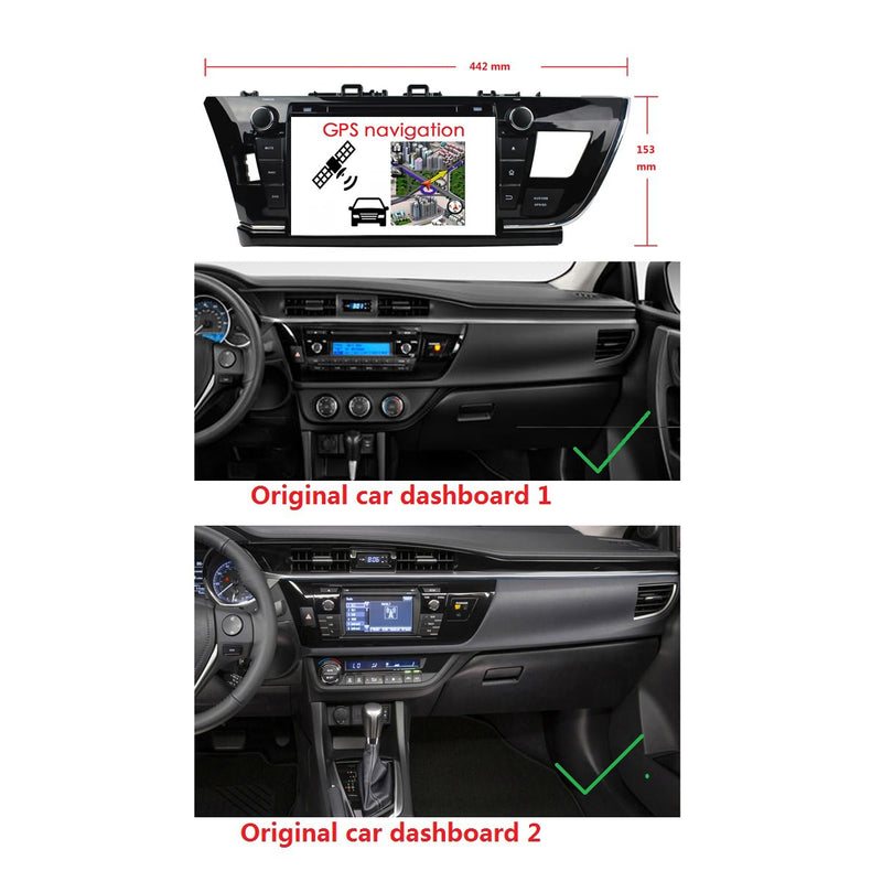 9 inch Android 9.0 OS Car Stereo GPS Navigation Headunit for Toyota Corolla Auris(2014-2016) LHD, Octa Core 1.5G CPU 4G DDR3 RAM 32G Flash, Auto Radio DVD Player Bluetooth 4G WIFI OBDII MirrorLink - foyotech