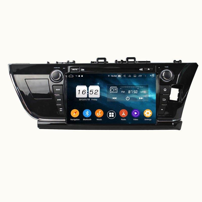 Android 9.0 OS 9 inch Touchscreen Car Stereo GPS Navigation Headunit for Toyota Corolla Auris(2014-2016) RHD, Octa Core 1.5G CPU 4G DDR3 RAM 32G Flash, Auto Radio DVD Player Bluetooth 4G WIFI OBDII MirrorLink - foyotech