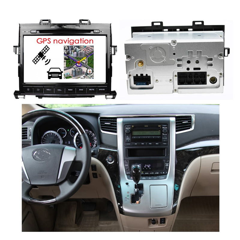 9 inch Touchscreen Android 10 Autoradio Stereo for Toyota Alphard 2007 2008 2009 2010 2011 2012 2013 2014. Octa Core 1.5G CPU 32G Flash 4G DDR3 RAM. 2 Din Car DVD Player GPS Navigation 3G 4G WIFI Bluetooth USB/SD DSP Carplay Steering Wheel Control OBD2. Plug and Play Double Din Vehicle Multimedia System Head Unit.