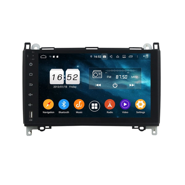DSP 9 Inch Full Touchscreen Android 9.0 Car Stereo for Benz W169/W245/Viano/Vito, 4GB RAM+32GB ROM, Auto GPS Navigation Bluetooth Head Unit - foyotech