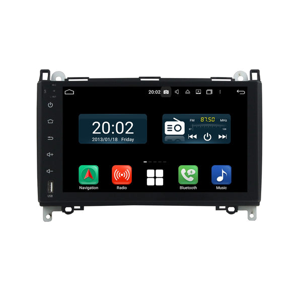 Android 10 9 Inch 1024x600 Touch Screen 2 Din Autoradio Headunit for Benz W169 W245(2005-2011)/Benz Viano Vito(2009-2011), 8 Core 1.5GB CPU 32GB Flash 4GB DDR3 RAM, Auto Radio GPS Navigation 3G 4G WIFI Bluetooth USB DSP Carplay&Auto Steering Wheel Control DSP. Double Din Vehicle Multimedia Player System Head Unit.