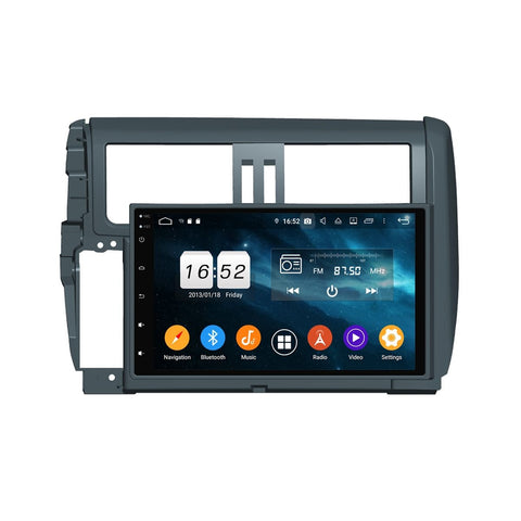 9 Inch Android 9.0 Auto GPS for Toyota Land Cruiser Prado 150(2010-2013), 4GB RAM+32GB ROM, DSP Touchscreen Car Radio Stereo Bluetooth 4G WIFI - foyotech