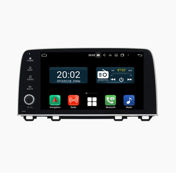 Android 10 1 Din 9 Inch 1024x600 Touchscreen Autoradio Headunit for Honda CRV 2017 2018 2019 2020, Octa Core 1.5GB CPU 32GB Flash 4GB DDR3 RAM, Auto Radio GPS Navigation 3G 4G WIFI Bluetooth USB DSP Carplay&Auto Steering Wheel Control. 1Din Vehicle Touch Screen Multimedia Video Player System Head Unit.