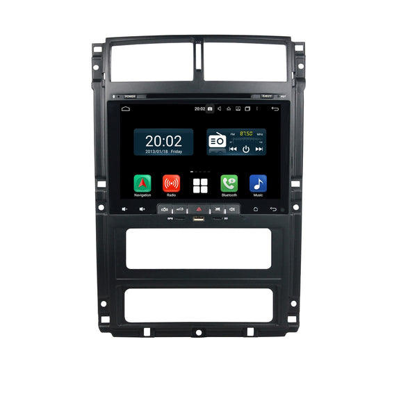 Android 10.0 Single Din 9 Inch Touchscreen Autoradio Headunit for Peugeot 405(2015 2016 2017 2018 2019 2020), 9 Core 1.5GB CPU 32GB Flash 4GB DDR3 RAM, Auto Radio GPS Navigation 3G 4G WIFI Bluetooth USB MirrorLink Steering Wheel Control. 1Din Vehicle Touch Screen Multimedia Video Player System Head Unit.