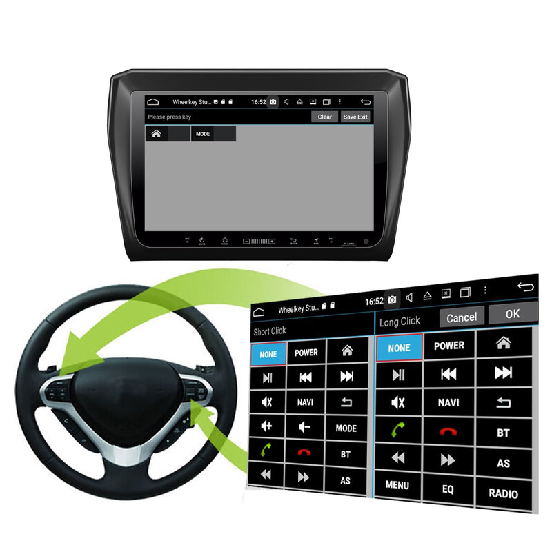 Android 10 2 Din 9 Inch 1024x600 Touchscreen Autoradio Headunit for Suzuki Swift 2018 2019 2020, Octa Core 1.5GB CPU 32GB Flash 4GB DDR3 RAM, Auto Radio GPS Navigation 3G 4G WIFI Bluetooth USB DSP Carplay&Auto Steering Wheel Control. 2Din Vehicle Touch Screen Multimedia Video Player System Head Unit.
