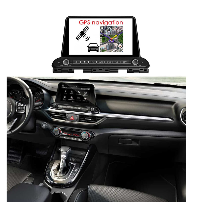 Android 10 Single Din 9 Inch 1024x600 Touchscreen Autoradio Headunit for Kia Cerato/Forte/Spectra 2018 2019 2020, Octa Core 1.5GB CPU 32GB Flash 4GB DDR3 RAM, Auto Radio GPS Navigation 4G WIFI Bluetooth USB DSP Carplay&Auto Steering Wheel Control. 1Din Vehicle Touch Screen Multimedia Video Player System Head Unit.