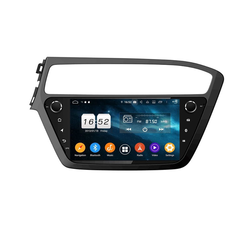 9 Inch Android 9.0 Car GPS Navigation Radio for Hyundai I20(2018-2020) LHD, DSP Touchscreen Auto Stereo Bluetooth 4G WIFI, 4GB RAM+32GB ROM - foyotech