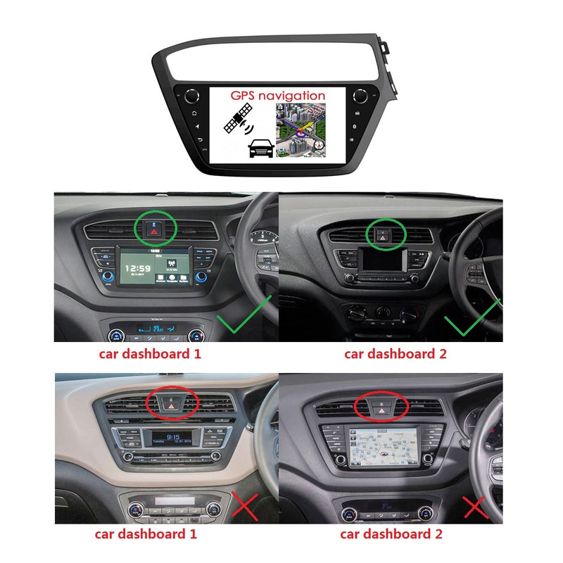 9 Inch Android 9.0 Car GPS Navigation Radio for Hyundai I20(2018-2020) RHD, DSP Touchscreen Auto Stereo Bluetooth 4G WIFI, 4GB RAM+32GB ROM - foyotech