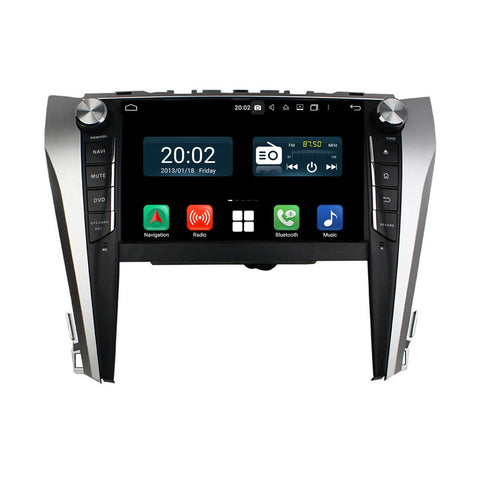9 inch Touchscreen Android 10.0 Autoradio Stereo for Toyota Camry 2015 2016 2017 2018, Octa Core 1.5G CPU 32G Flash 4G DDR3 RAM. 2 Din Car DVD Player GPS Navigation 3G 4G WIFI Bluetooth USB/SD DSP Carplay Auto Steering Wheel Control OBD2. Plug and Play cable Double Din Vehicle Multimedia System Head Unit.