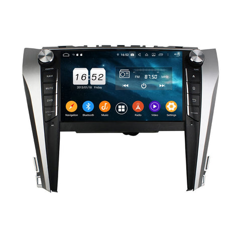 Android 9.0 OS 9 inch Touchscreen Car GPS Navigation Headunit for Toyota Camry(2015-2018), Octa Core 1.5G CPU 4G DDR3 RAM 32G Flash, Auto Radio DVD Player Bluetooth 4G WIFI OBDII MirrorLink - foyotech