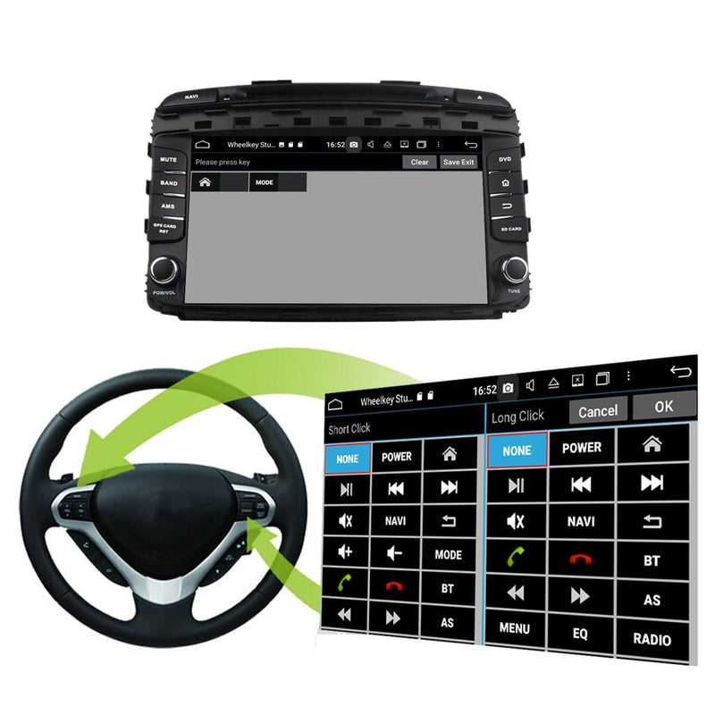 1024x600 Touchscreen Android 10 Autoradio Stereo for Kia Sorento 2015 2016 2017 2018 2019 2020. Octa Core 1.5G CPU 32G Flash 3G 4G DDR3 RAM. 2 Din Auto Radio GPS Navigation 3G 4G WIFI Bluetooth USB/SD DVD Player DSP Carplay Auto Steering Wheel Control OBDII. Double Din Vehicle Multimedia Player System Head Unit.