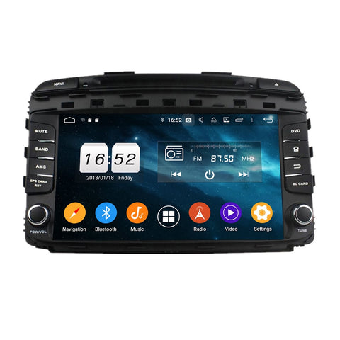9 inch Android 9.0 OS Car GPS Navigation DVD Player for Kia Sorento(2015-2020), Octa Core 1.5G CPU 4G DDR3 RAM 32G Flash, Touchscreen Auto Radio Bluetooth 4G WIFI OBDII MirrorLink Headunit - foyotech