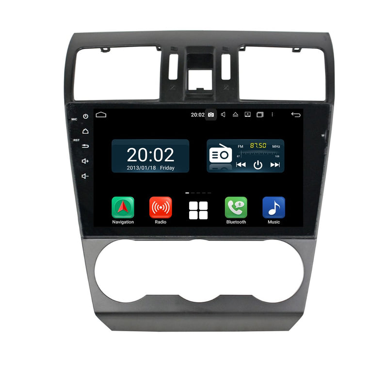 Android 10 2 Din 9 Inch 1024x600 Touchscreen Autoradio Headunit for Subaru Forester 2013 2014, Octa Core 1.5GB CPU 32GB Flash 4GB DDR3 RAM, Auto Radio GPS Navigation 3G 4G WIFI Bluetooth USB DSP Carplay&Auto Steering Wheel Control. 2Din Vehicle Touch Screen Multimedia Video Player System Head Unit.