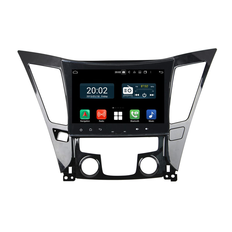 Android 10.0 Double Din 9 Inch Touchscreen Autoradio Headunit for Hyundai Sonata 2011 2012 2013 2014, Octa Core 1.5GB CPU 32GB Flash 4GB DDR3 RAM, Auto Radio GPS Navigation 4G WIFI Bluetooth USB DSP Carplay&Auto Steering Wheel Control. 2Din Vehicle Touch Screen Multimedia Video Player System Head Unit.