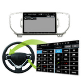 Android 10 Double Din 9 Inch 1024x600 Touchscreen Autoradio Headunit for Kia Sportage 2016 2017 2018 2019, Octa Core 1.5GB CPU 32GB Flash 4GB DDR3 RAM, Auto Radio GPS Navigation 4G WIFI Bluetooth USB DSP Carplay&Auto Steering Wheel Control. 2Din Vehicle Touch Screen Multimedia Video Player System Head Unit.