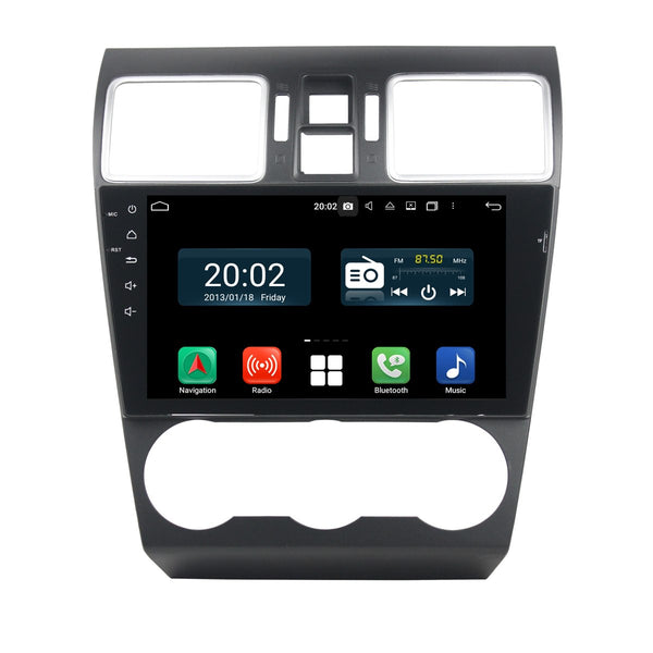 Android 10 2 Din 9 Inch 1024x600 Touchscreen Autoradio Headunit for Subaru Forester XV 2015 2016 2017 2018 2019 2020, Octa Core 1.5GB CPU 32GB Flash 4GB DDR3 RAM, Auto Radio GPS Navigation 3G 4G WIFI Bluetooth USB DSP Carplay&Auto Steering Wheel Control. 2Din Vehicle Touch Screen Multimedia Video Player System Head Unit.