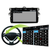 Android 10 Double Din 9 Inch Touchscreen Autoradio Headunit for Toyota Corolla/Auris 2006 2007 2008 2009 2010 2011 2012 2013, Octa Core 1.5GB CPU 32GB Flash 4GB DDR3 RAM, Auto Radio GPS Navigation 3G 4G WIFI Bluetooth USB DSP Carplay&Auto Steering Wheel Control. 2Din Vehicle Touch Screen Multimedia Video Player System Head Unit.