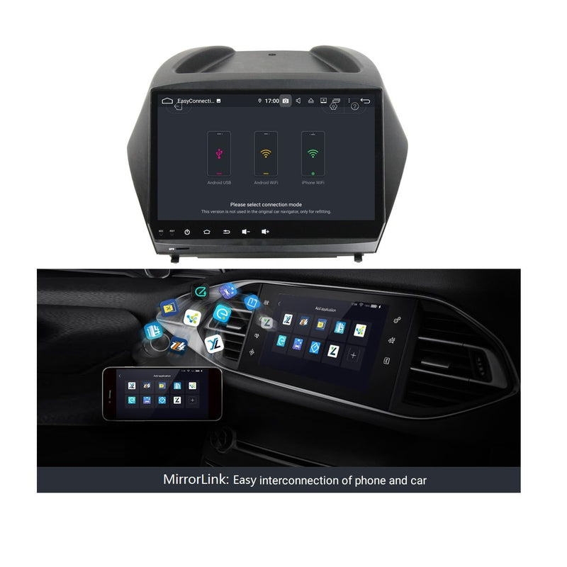 9 Inch Touchscreen Android 9.0 Car Radio GPS for Hyundai IX35/Tucson(2009-2014), DSP Auto Stereo Bluetooth 4G WIFI, 4GB RAM+32GB ROM - foyotech
