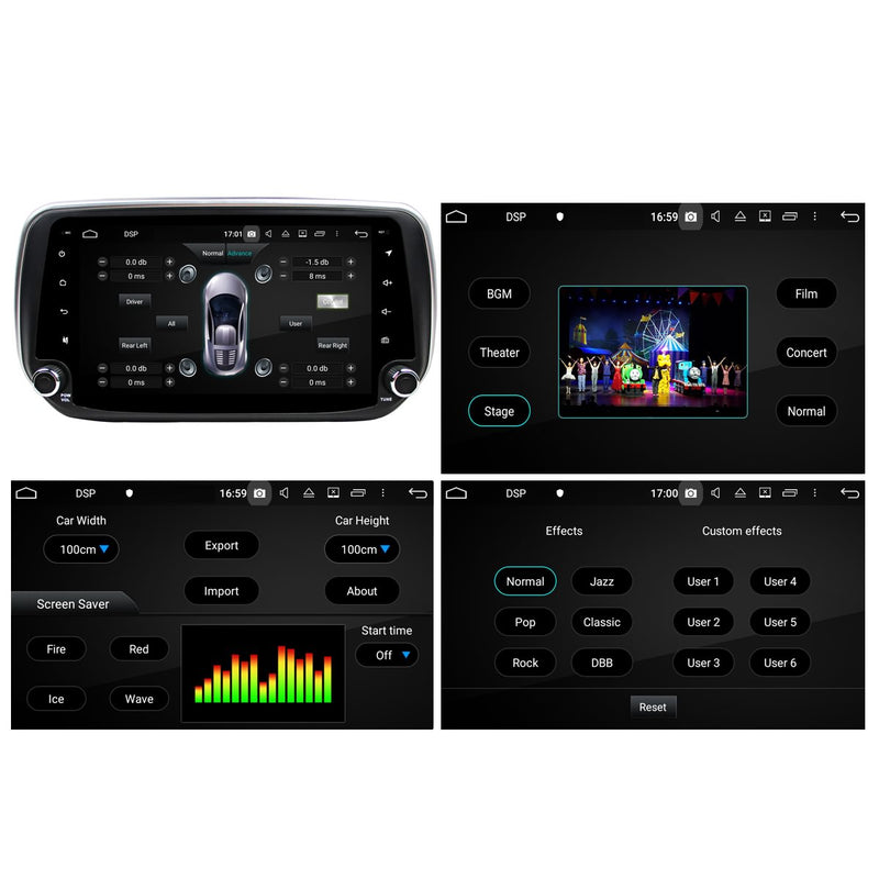 Android 10 Single Din 9 Inch Touchscreen Autoradio Headunit for Hyundai Santa Fe/IX45 2018 2019 2020, Octa Core 1.5GB CPU 32GB Flash 4GB DDR3 RAM, Auto Radio GPS Navigation 4G WIFI Bluetooth USB DSP Carplay&Auto Steering Wheel Control. 1Din Vehicle Touch Screen Multimedia Video Player System Head Unit.