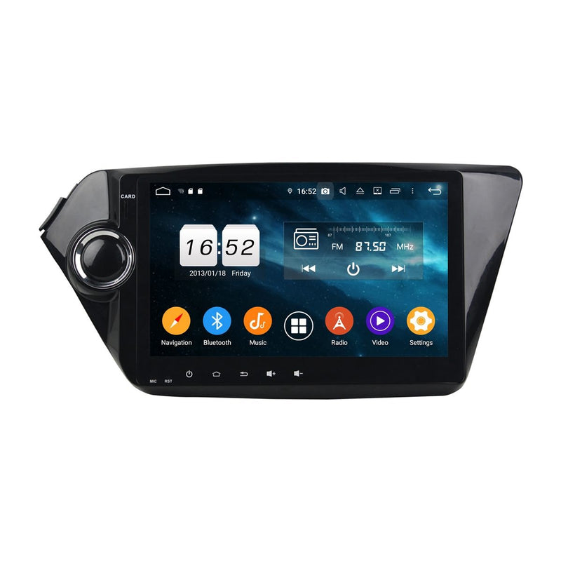 9 Inch Touchscreen Android 9.0 OS Car Video Player for Kia K2/Rio(2012-2017), DSP Auto Radio Stereo GPS Navigation Bluetooth 4G WIFI, 4GB RAM+32GB ROM - foyotech