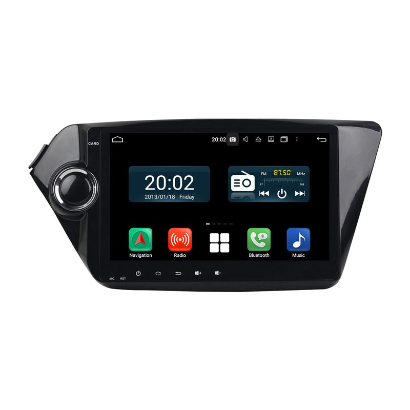 Android 10.0 Double Din 9 Inch 1024x600 Touchscreen Autoradio Headunit for Kia K2/Rio 2012 2013 2014 2015 2016 2017, Octa Core 1.5GB CPU 32GB Flash 4GB DDR3 RAM, Auto Radio GPS Navigation 4G WIFI Bluetooth USB DSP Carplay&Auto Steering Wheel Control. 2Din Vehicle Touch Screen Multimedia Video Player System Head Unit.