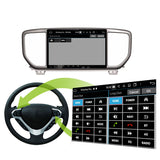 Android 10 2 Din 9 Inch 1024x600 Touchscreen Autoradio Headunit for Kia Sportage 2019 2020, Octa Core 1.5GB CPU 32GB Flash 4GB DDR3 RAM, Auto Radio GPS Navigation 3G 4G WIFI Bluetooth USB DSP Carplay&Auto Steering Wheel Control. 2Din Vehicle Touch Screen Multimedia Video Player System Head Unit.