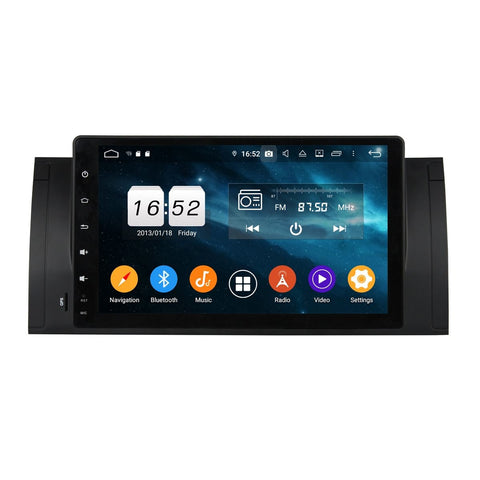 9 Inch Full Touchscreen Car GPS for BMW M5 E39(1995-2003)/X5 E53(2000-2007), 4GB RAM+32GB ROM, Android 9.0 DSP Auto Radio Stereo Bluetooth Headunit - foyotech