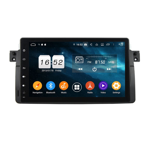 9 Inch Full Touchscreen DSP Android 9.0 Car GPS for BMW E46/M3(1998-2005), 4GB RAM+32GB ROM, Auto Radio Stereo Bluetooth Headunit - foyotech