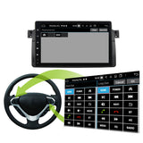 Android 10 Single Din 9 Inch 1024x600 Touchscreen Autoradio Headunit for BMW E46/M3 1998 1999 2000 2001 2002 2003 2004 2005, 8 Core 1.5GB CPU 32GB Flash 4GB DDR3 RAM, Auto Radio GPS Navigation 3G 4G WIFI Bluetooth USB DSP Carplay&Auto Steering Wheel Control. Vehicle Touch Screen Multimedia Video Player System Head Unit.