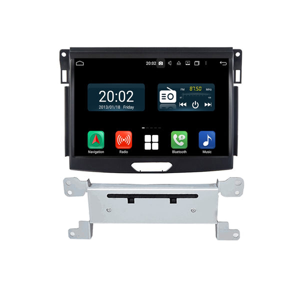 Android 10 1 Din 9 Inch 1024x600 Touchscreen Autoradio Headunit for Ford Everest 2015 2016 2017 2018 2019 2020, 8 Core 1.5GB CPU 32GB Flash 4GB DDR3 RAM, Auto Radio GPS Navigation 3G 4G WIFI Bluetooth USB DSP Carplay&Auto Steering Wheel Control. 1Din Vehicle Touch Screen Multimedia Video Player System Head Unit.