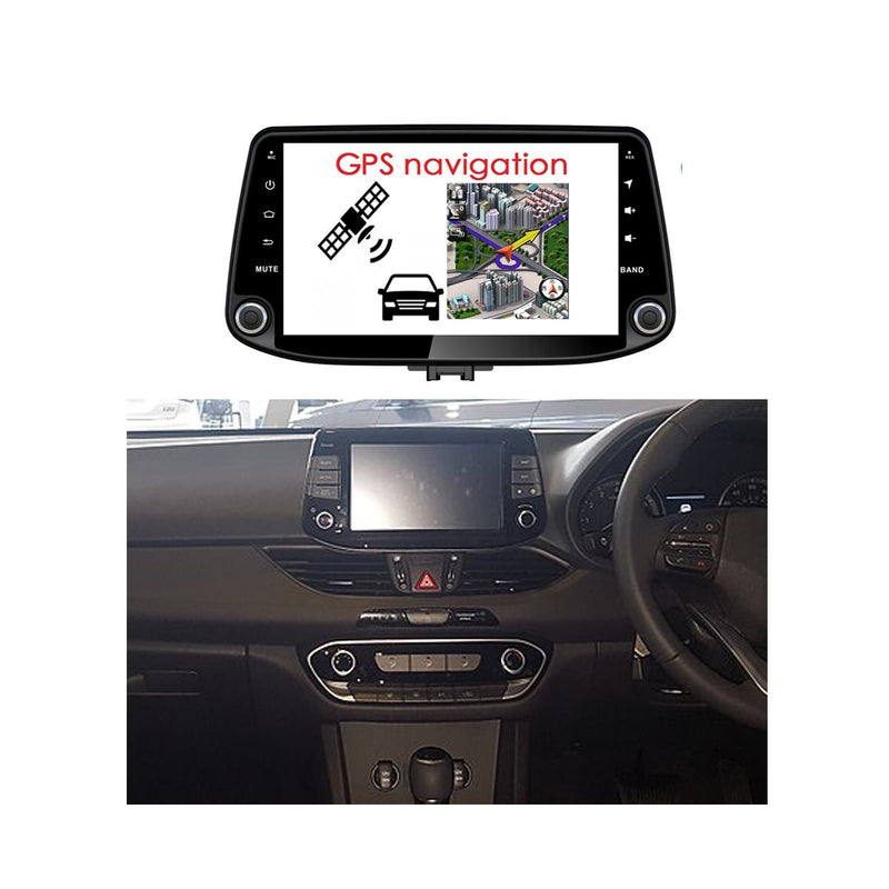 9 Inch Android 9.0 Car GPS Navigation Radio for Hyundai I30/Elantra GT(2017-2020), Touchscreen DSP Auto Stereo Bluetooth 4G WIFI, 4GB RAM+32GB ROM - foyotech