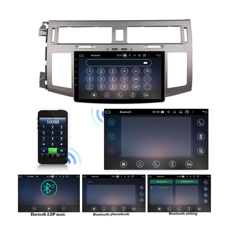 Android 10 1 Din 9 Inch 1024x600 Touchscreen Autoradio Headunit for Toyota Avalon 2008 2009 2010, Octa Core 1.5GB CPU 32GB Flash 4GB DDR3 RAM, Auto Radio GPS Navigation 3G 4G WIFI Bluetooth USB DSP Carplay&Auto Steering Wheel Control. 1Din Vehicle Touch Screen Multimedia Video Player System Head Unit.