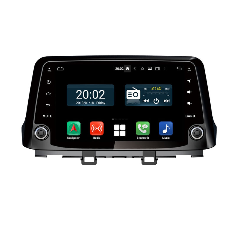 Android 10 Single Din 9 Inch Touchscreen Autoradio Headunit for Hyundai Kona/Kauai 2017 2018 2019 2020, Octa Core 1.5GB CPU 32GB Flash 4GB DDR3 RAM, Auto Radio GPS Navigation 3G 4G WIFI Bluetooth USB DSP Carplay&Auto Steering Wheel Control. 1Din Vehicle Touch Screen Multimedia Video Player System Head Unit.