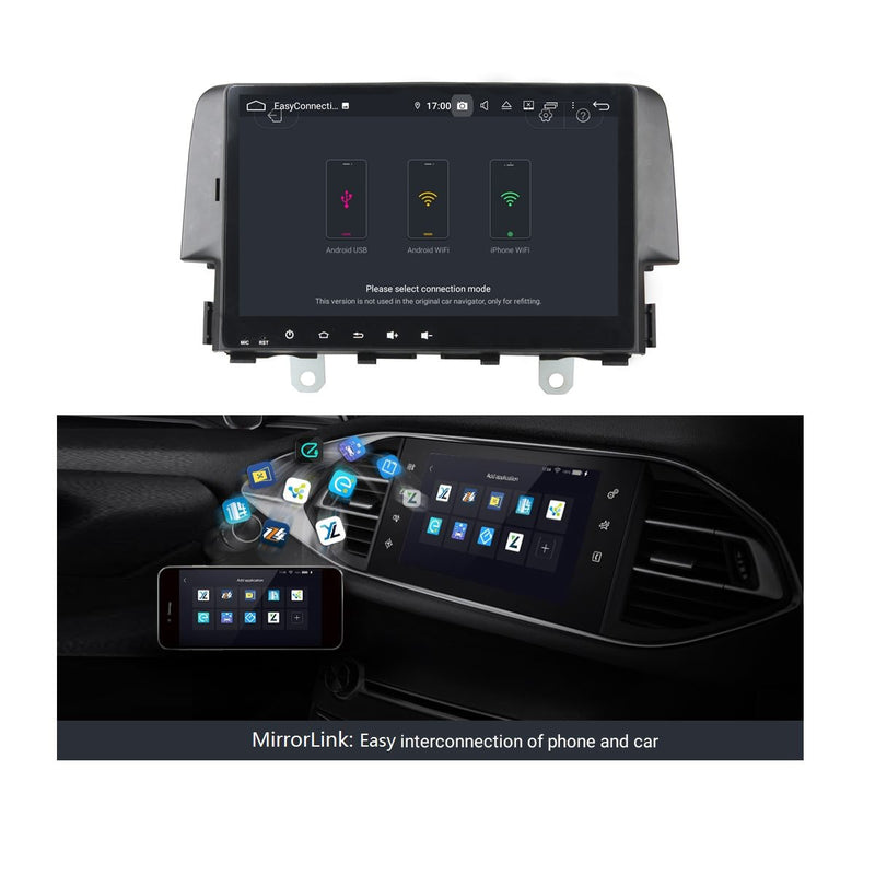 9 Inch Touchscreen Car Radio for Honda Civic(2016-2020), 4GB RAM+32GB ROM, Android 9.0 DSP GPS Navigation Stereo Bluetooth 4G WIFI - foyotech