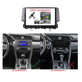 Android 10 1 Din 9 Inch 1024x600 Touchscreen Autoradio Headunit for Honda Civic 2016 2017 2018 2019 2020, Octa Core 1.5GB CPU 32GB Flash 4GB DDR3 RAM, Auto Radio GPS Navigation 3G 4G WIFI Bluetooth USB DSP Carplay&Auto  Steering Wheel Control. 1Din Vehicle Touch Screen Multimedia Video Player System Head Unit.