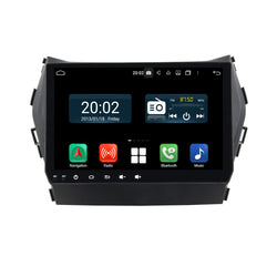 Android 10 Double Din 9 Inch Touchscreen Autoradio Headunit for Hyundai IX45/Santa Fe 2013 2014 2015 2016 2017 2018, Octa Core 1.5GB CPU 32GB Flash 4GB DDR3 RAM, Auto Radio GPS Navigation 3G 4G WIFI Bluetooth USB MirrorLink Steering Wheel Control. 2Din Vehicle Touch Screen Multimedia Video Player System Head Unit.