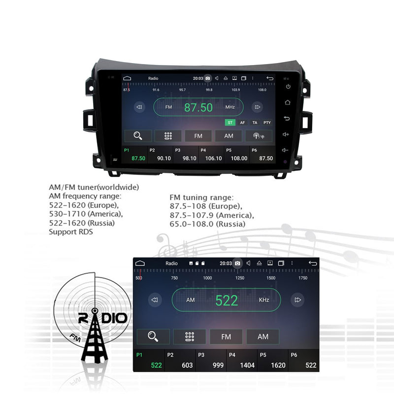 Android 10 Double Din 9 Inch 1024x600 Touchscreen Autoradio Headunit for Renault Alaskan(2016-2020) right hand driving, Octa Core 1.5GB CPU 32GB Flash 4GB DDR3 RAM, Auto Radio GPS Navigation 3G 4G WIFI Bluetooth USB DSP Carplay&Auto Steering Wheel Control. 2Din Vehicle Touch Screen Multimedia Video Player System Head Unit