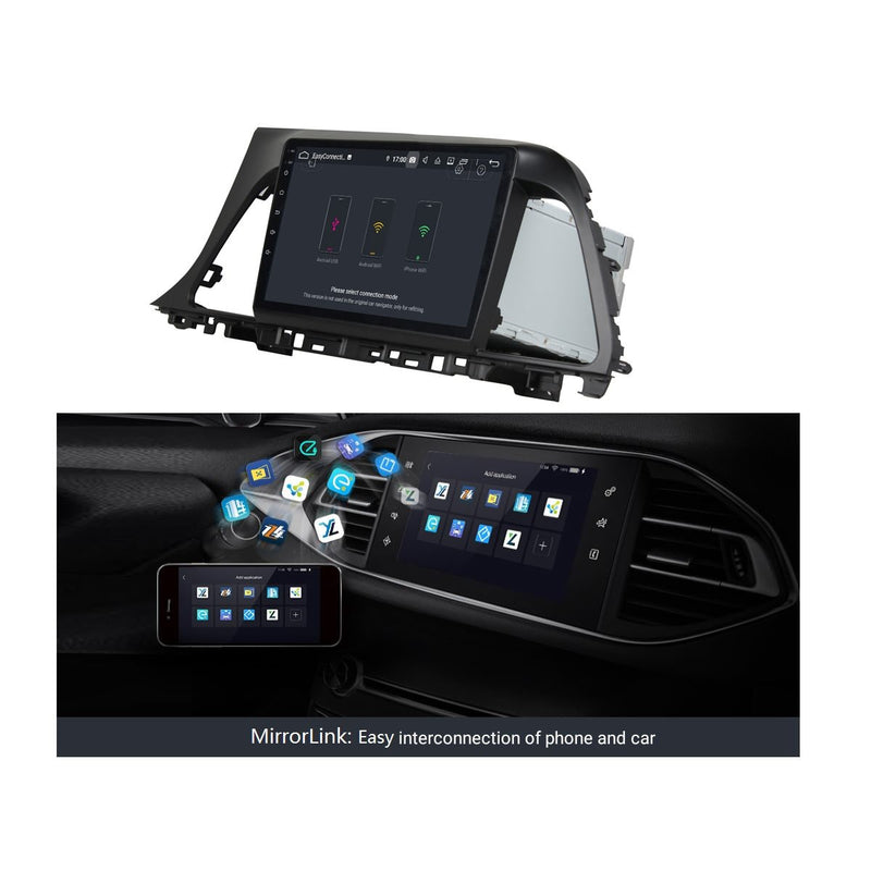 Android 9.0 9 Inch Touchscreen Car Multimedia Player for Hyundai Sonata(2015-2017), DSP Auto Radio Stereo GPS Navigation Bluetooth 4G WIFI, 4GB RAM+32GB ROM - foyotech