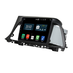 Android 10.0 Double Din 9 Inch Touchscreen Autoradio Headunit for Hyundai Sonata 2015 2016 2017, Octa Core 1.5GB CPU 32GB Flash 4GB DDR3 RAM, Auto Radio GPS Navigation 4G WIFI Bluetooth USB DSP Carplay&Auto Steering Wheel Control. 2Din Vehicle Touch Screen Multimedia Video Player System Head Unit.