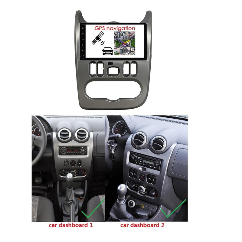 Android 10 Single Din 9 Inch Touchscreen Autoradio Headunit for Dacia Logan/Sandero/Duster 2009 2010 2011 2012, 8 Core 1.5GB CPU 32GB Flash 4GB DDR3 RAM, Auto Stereo GPS Navigation 3G 4G WIFI Bluetooth USB MirrorLink Steering Wheel Control. 1Din Vehicle Touch Screen Multimedia Video Player System Head Unit.