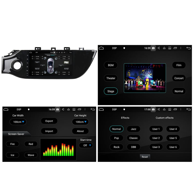 Android 10 Single Din 9 Inch Touchscreen Autoradio Headunit for Kia K2/Rio 2017 2018 2019 2020, Octa Core 1.5GB CPU 32GB Flash 4GB DDR3 RAM, Auto Radio GPS Navigation 4G WIFI Bluetooth USB DSP Carplay&Auto Steering Wheel Control. 1Din Vehicle Touch Screen Multimedia Video Player System Head Unit.