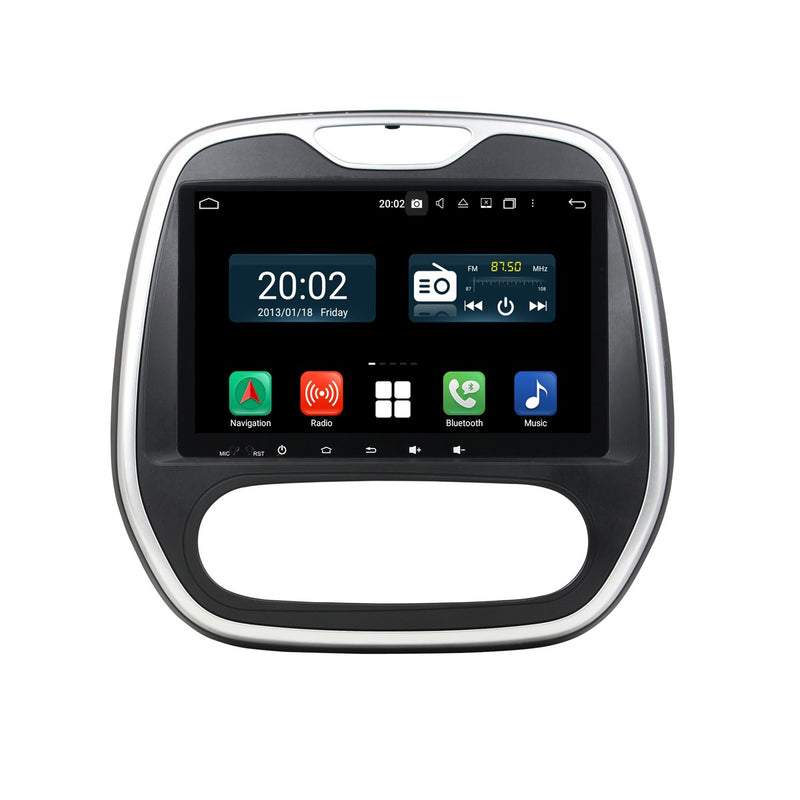 Android 10.0 Single Din 9 Inch Touchscreen Autoradio Headunit for Renault Captur 2016 2017 2018 2019 2020, 8 Core 1.5GB CPU 32GB Flash 4GB DDR3 RAM, Auto Radio GPS Navigation 3G 4G WIFI Bluetooth USB DSP Carplay&Auto Steering Wheel Control. 1Din Vehicle Touch Screen Multimedia Video Player System Head Unit.