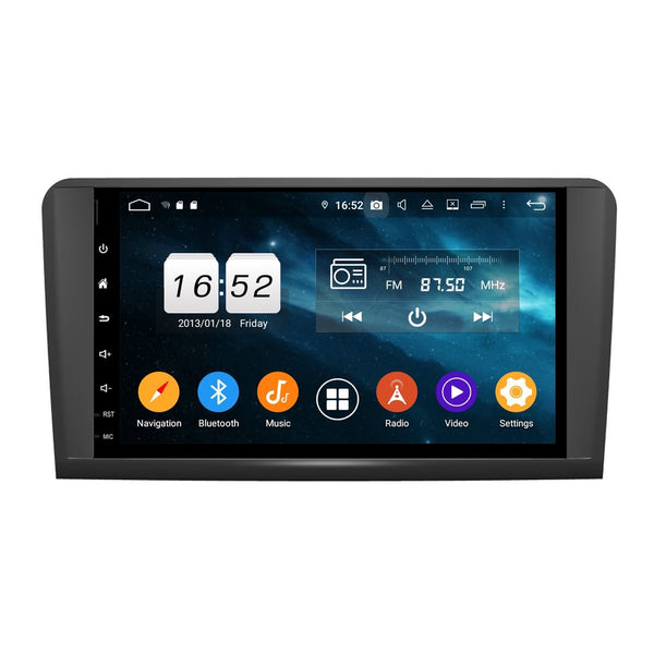9 Inch Full Touchscreen Android 9.0 Car GPS for Benz W164(2005-2012)(ML300 ML350 ML450 ML500), 4GB RAM+32GB ROM, DSP Auto Radio Bluetooth Headunit - foyotech