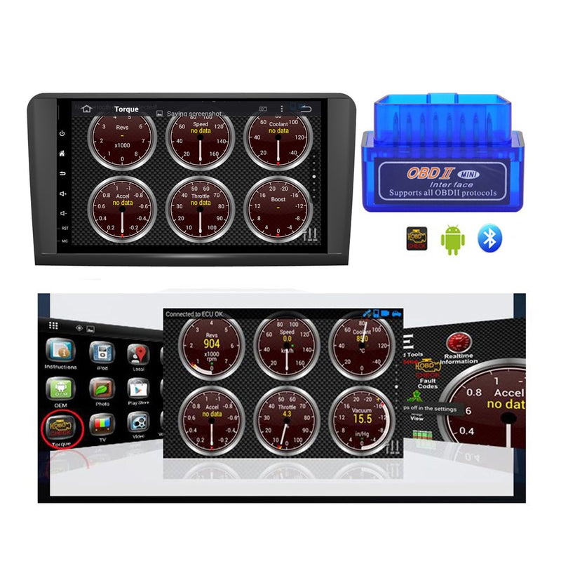 Android 10 9 Inch Touchscreen 2 Din Autoradio Headunit for Benz W164(2005 2006 2007 2008 2009 2010 2011 2012)(ML300 ML350 ML450 ML500), 8 Core 1.5GB CPU 32GB Flash 4GB DDR3 RAM, Auto Radio GPS Navigation 3G 4G WIFI Bluetooth USB DSP Carplay&Auto Steering Wheel Control DSP. Double Din Vehicle Multimedia Player System.